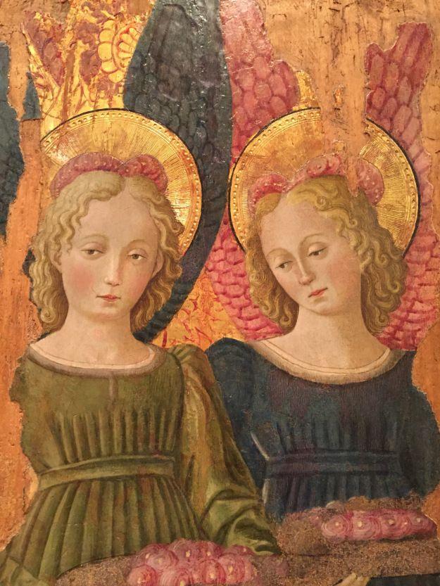 Benedetto Bonfigli - Angeli con rose, dettaglio - affresco - 1466 ca. - Galleria Nazionale dell'Umbria a Perugia