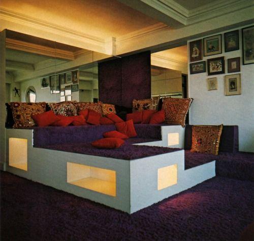 Sunken Living Room 70 S 70s living room eggplant purple modular couch sunken living room