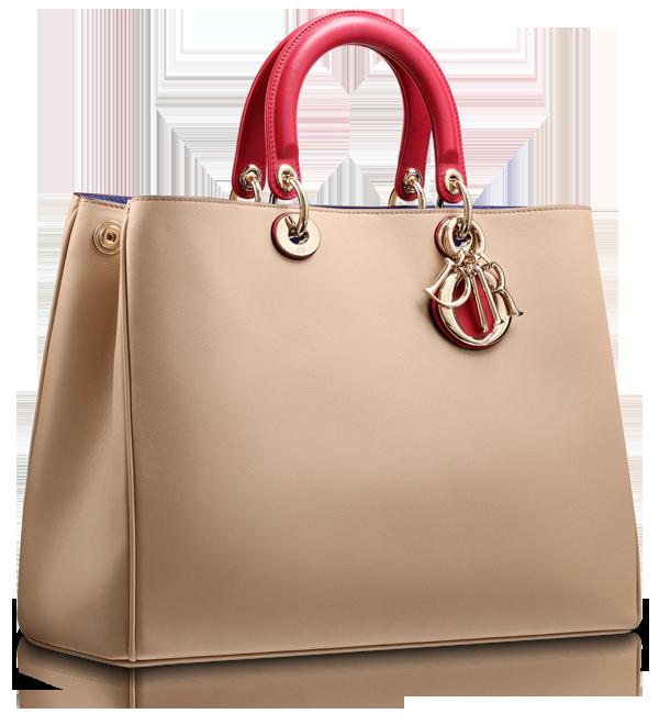 c4f99dd814 DIORISSIMO - Smooth two-tone beige/crimson red leather 'Diorissimo' bag