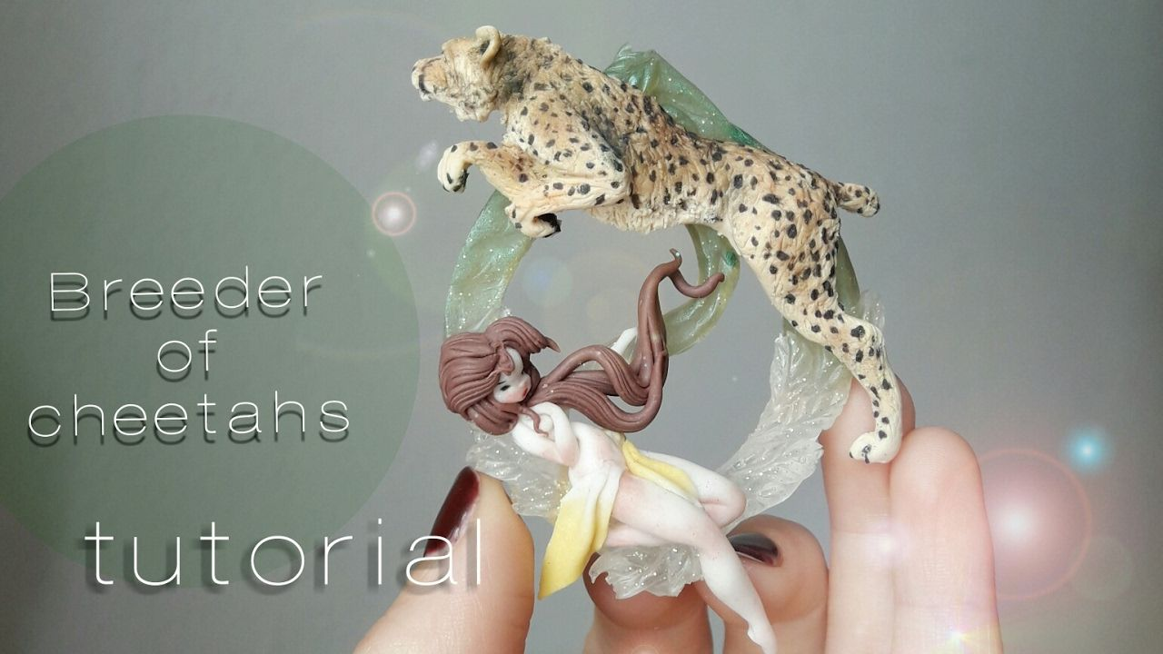 Polytmer clay tutorial //   Breeder of cheetahs !!