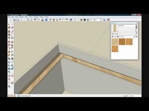 How To Project A Texture Onto A Curved Surface In Sketchup Wood