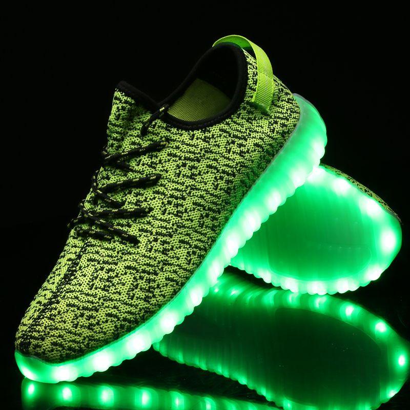 722089b829 Led Chaussure Avec Yeezy Style Vert Fluo | Chaussure Led Vert Fluo ...