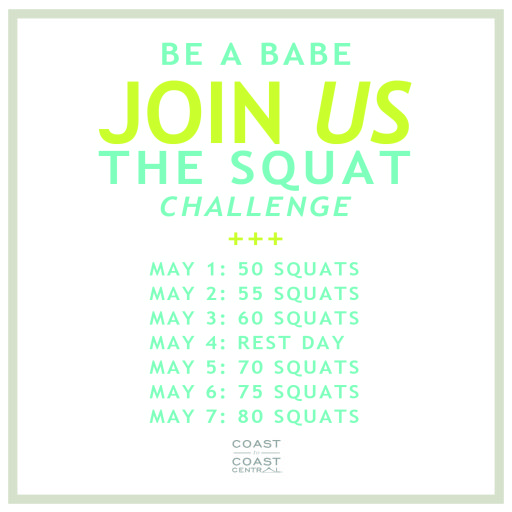 30 Day Squat Challenge #coasttocoastchallenge #coasttocoastcentral @coasttocoastcentral
