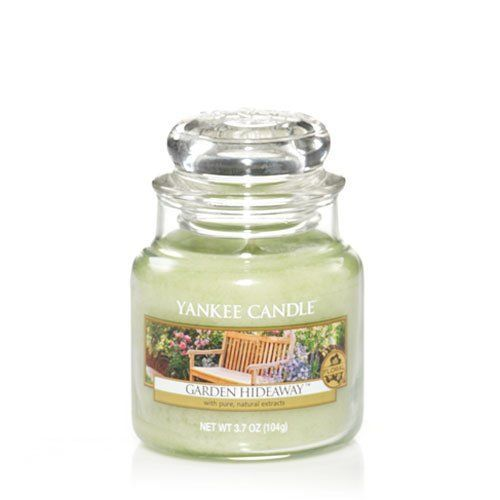 Yankee Candle Housewarmer Jar (Garden Hideaway) - Small (3.7oz) -- Once in a lifetime offer : Candles Holders Decor