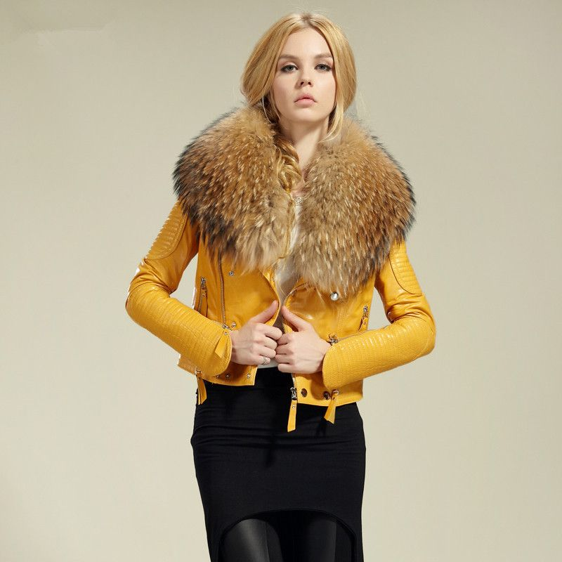2015 women&39s geniune sheep leather jacket real sheep leather