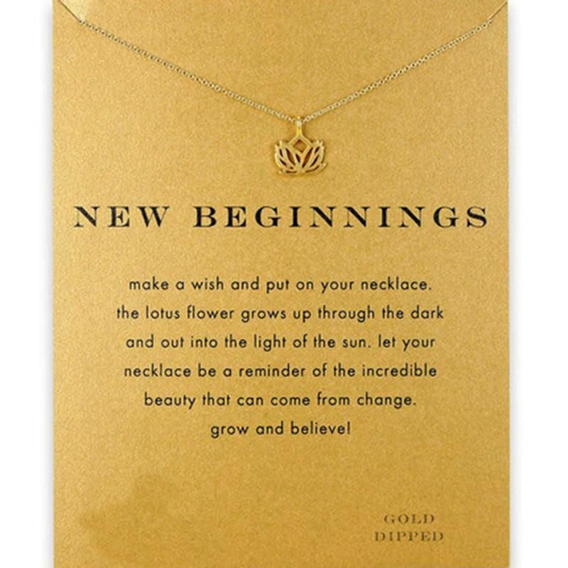 New Beginnings Lotus Flower Necklace Lotus Flower Lotus And Products