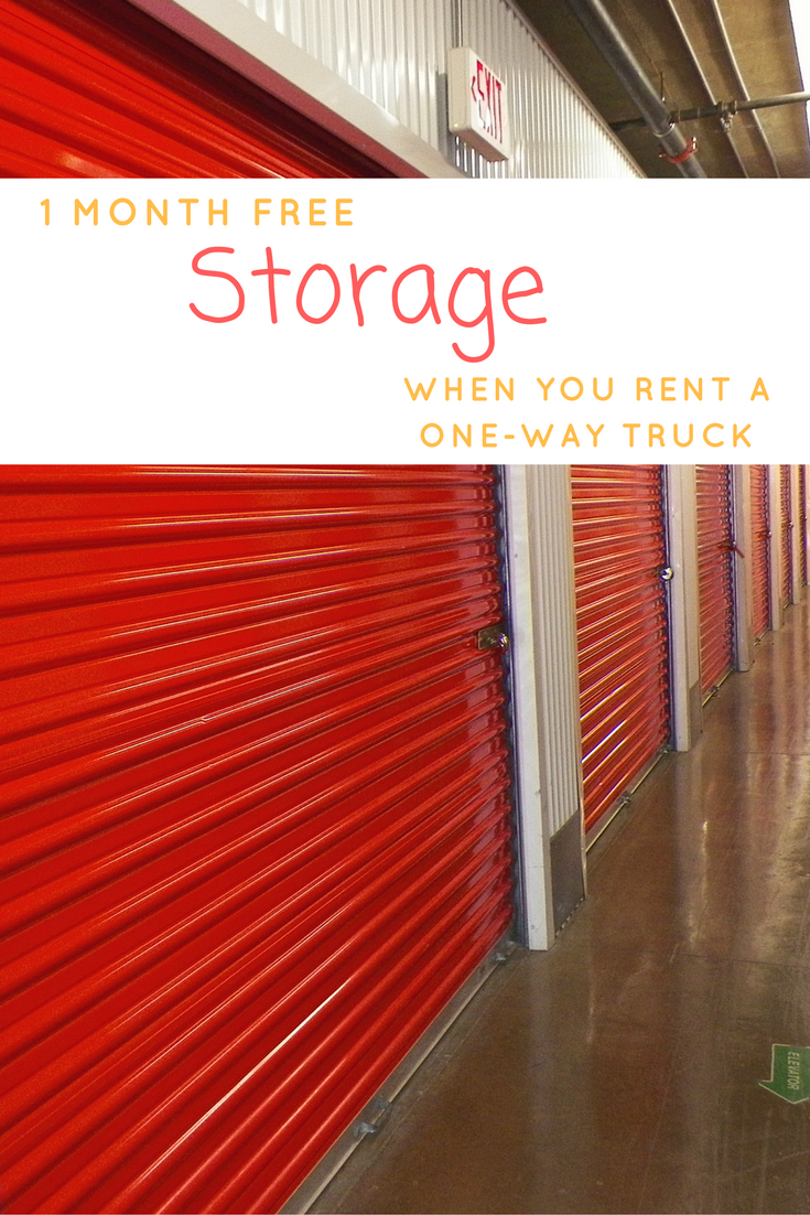 A Great Benefit Of Using U Haul To Move Cross Country Is That You Can Get One Month Free Storage When You Rent A One Wa Storage Self Storage Self Storage Units