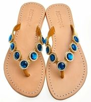 d6fee6ffd47281 Jeweled Flat Sandals by Mystique