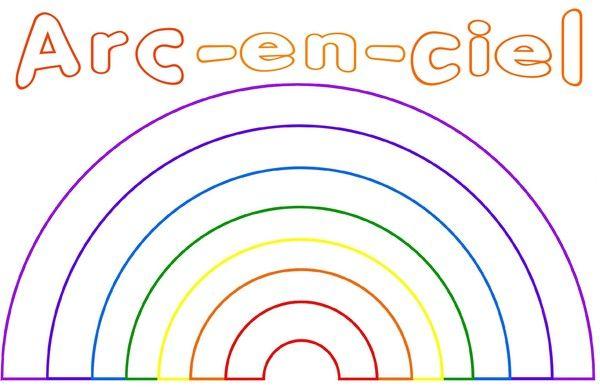 Coloriage pont pinterest arc en ciel coloriage et ciel - Arc en ciel dessin a colorier ...