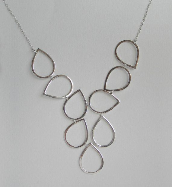 Photo of Sterling zilveren slabbetje halsketting-DROPS | Etsy