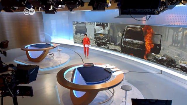 New News Studio of DW / Deutsche Welle, Germany. Concept