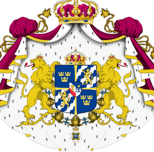 This Picture Shows All Of The Swedish Symbols In Sweden The National Symbols Are Lions And Crowns And The Colors Are Blue Coat Of Arms Yay Images Sweden Flag