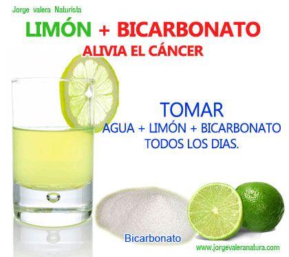 Bicarbonato agua y limon para adelgazar