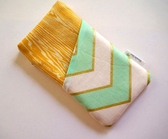 $15 www.seasidesew.etsy.com Teal chevron phone with pocket.  Water resistant case the is padded for extra protection by SeaSideSew