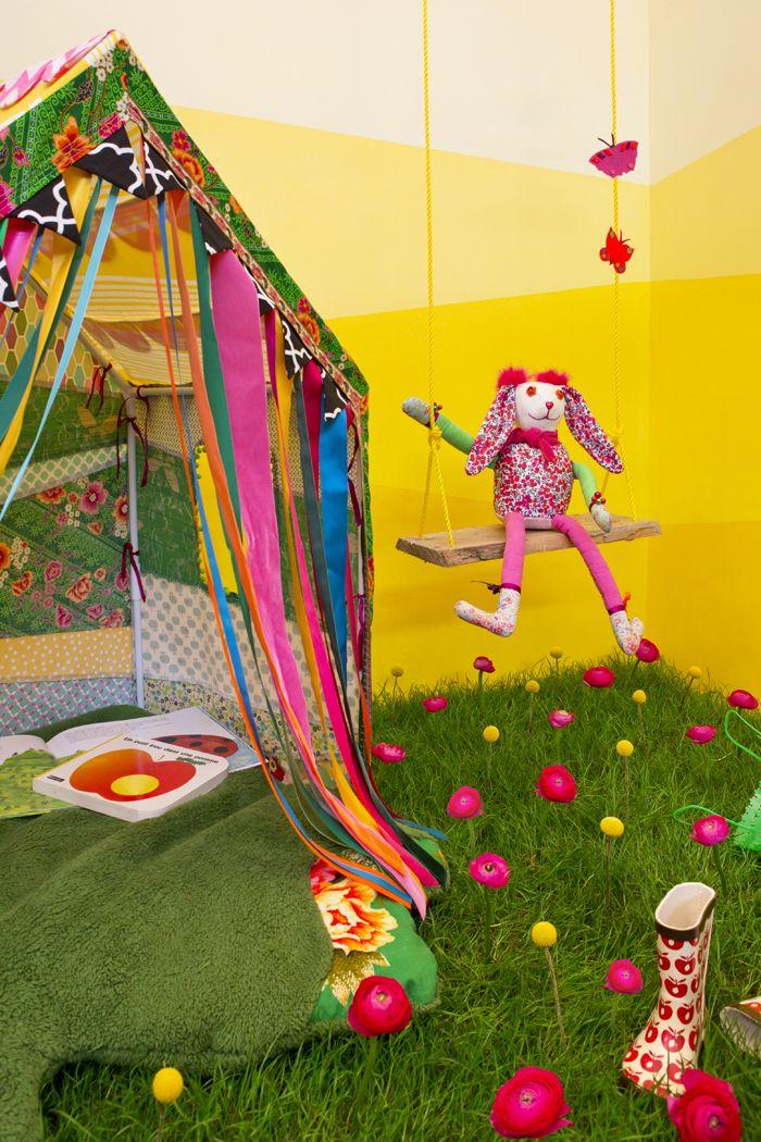 Dessine-moi une maison, jardin printanier pour les enfants, gazon