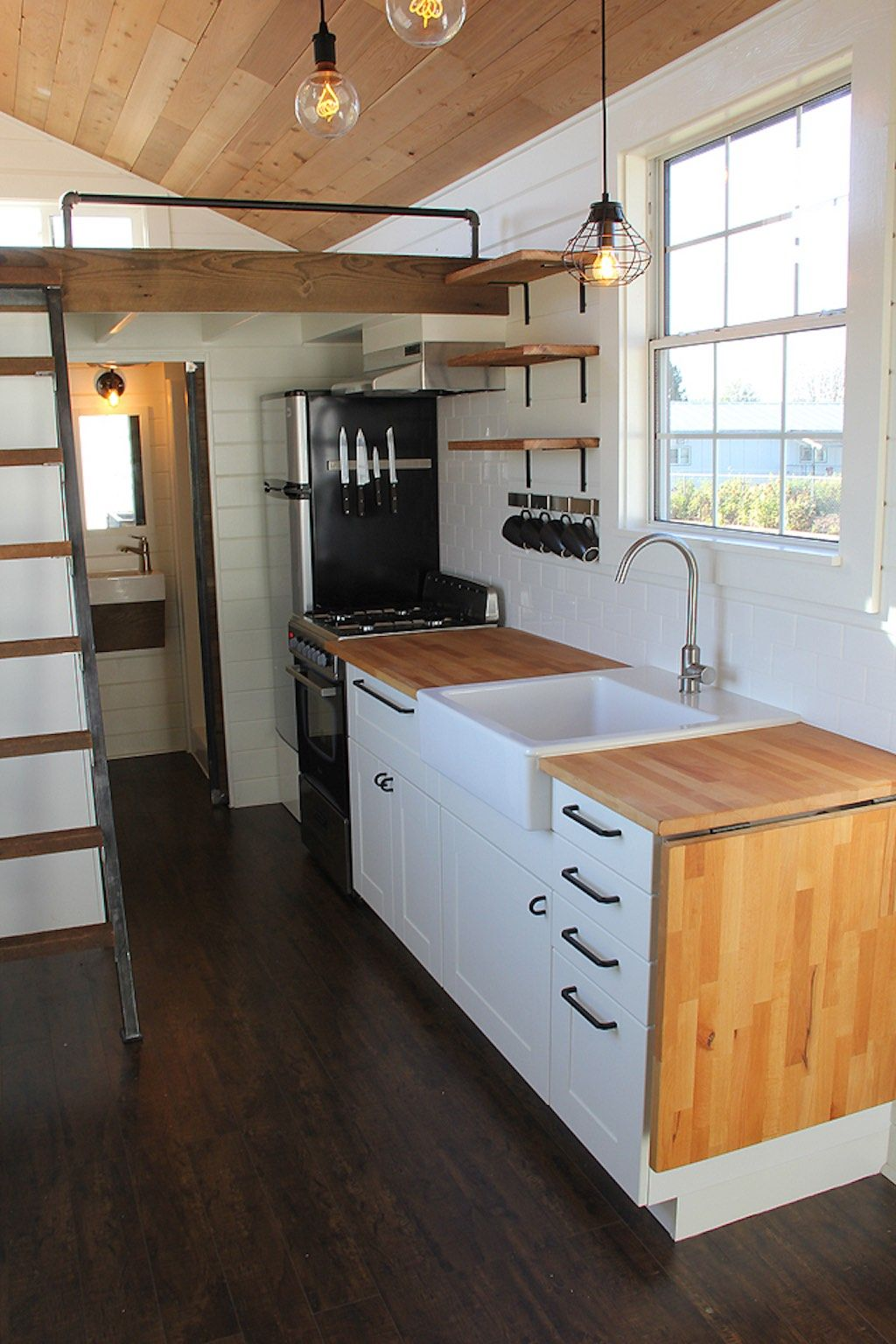 tiny house kitchens kitchen lighting options rustic industrial living home 160 sq ft swoon