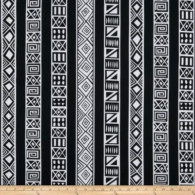 Shawn Pahwa African Ankara Print DTY Brushed Lungile White/Black