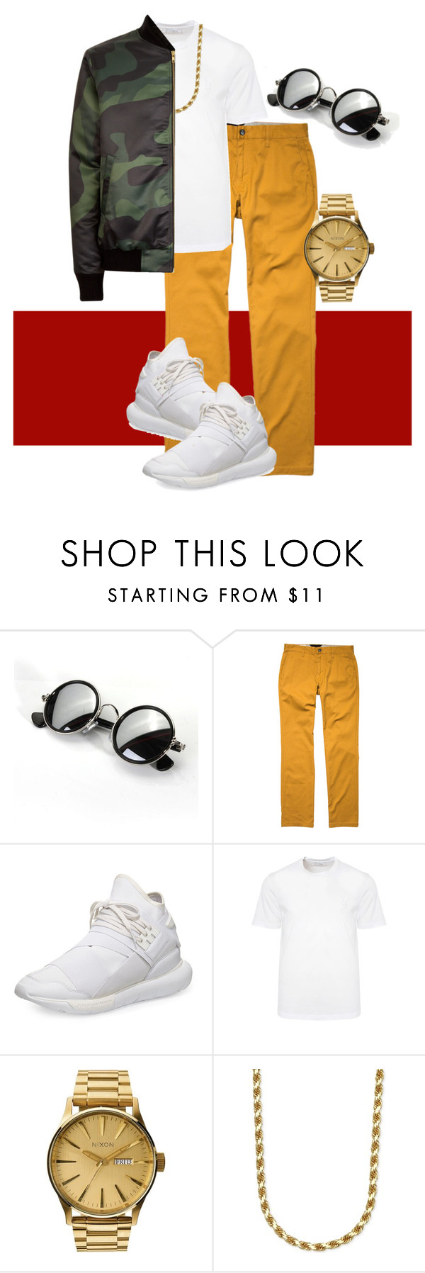 """""""Mens Red Carpet #2"""" by laurelbeauty on Polyvore featuring Volcom, Y-3, Versace, Nixon, men's fashion and menswear"""