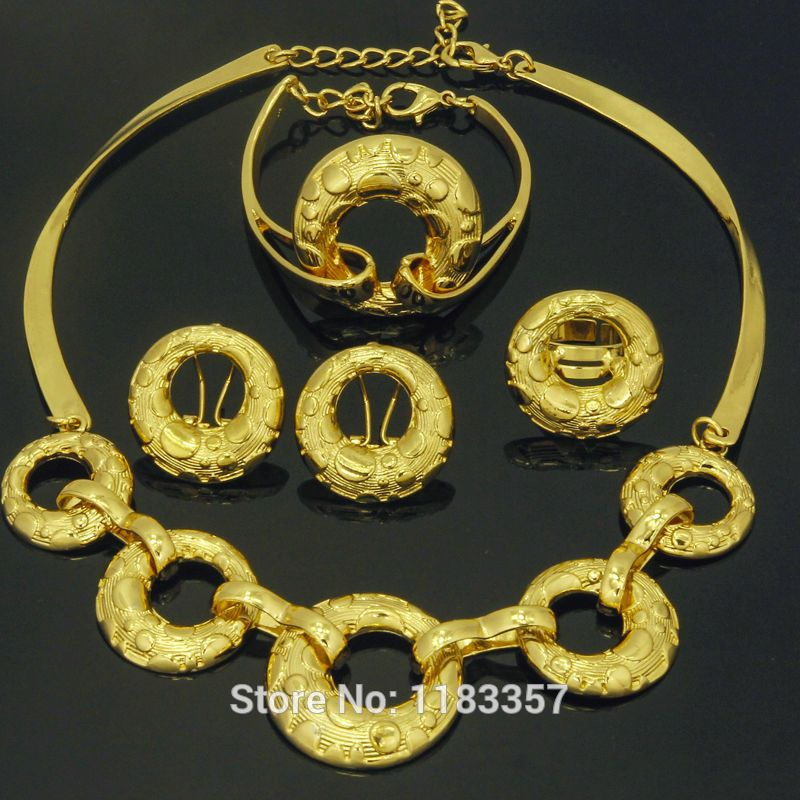 Find More Jewelry Sets Information about Dubai African fashion 18K Gold plated choker jewelry set women Gold Necklaces bracelets rings earrings Italy donuts Simple style,High Quality jewelry fashion,China jewelry bali Suppliers, Cheap jewelry ring storage boxes from AE Jewelry&sport jerseys on Aliexpress.com