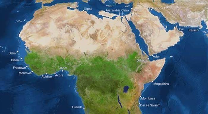 La modulación de las áreas inundadas en África.-