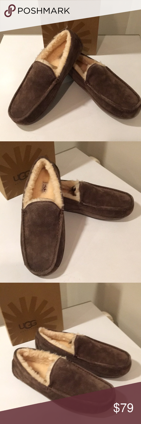 6e14d695c5a 🔥New Ugg Ascot Espresso Suede Moccasin slippers New Ascot Espresso  moccasin Suede slippers ☃ ❤ This best-selling men s style is a winter  favorite.