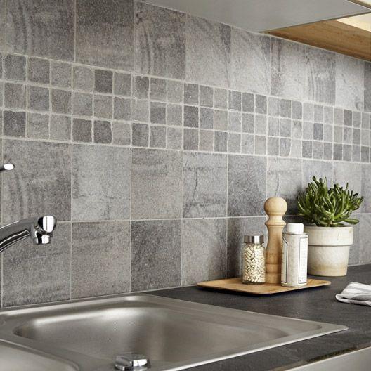 Carrelage intérieur Vestige en grès cérame teinté masse, gris, 15 x