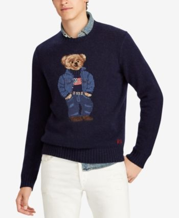 9f0ae5e37398 Polo Ralph Lauren Men s Polo Bear Classic Fit Sweater - Sweater Navy ...