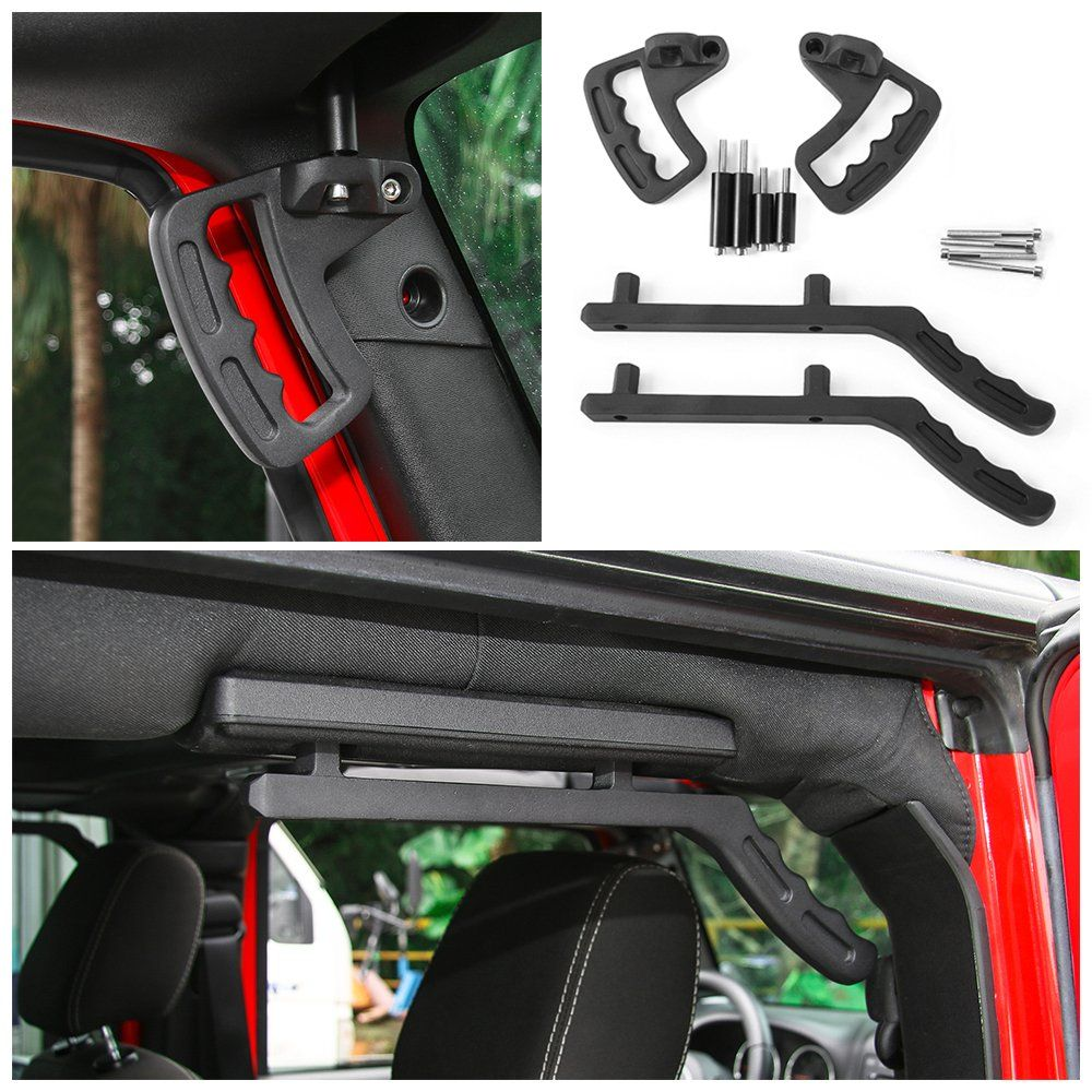 Voodonala Front and Rear Roll Bar Grab Handles Kit for