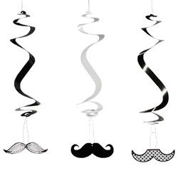 Mustache Party Supplies, Mustache Party Danglers, Decorations