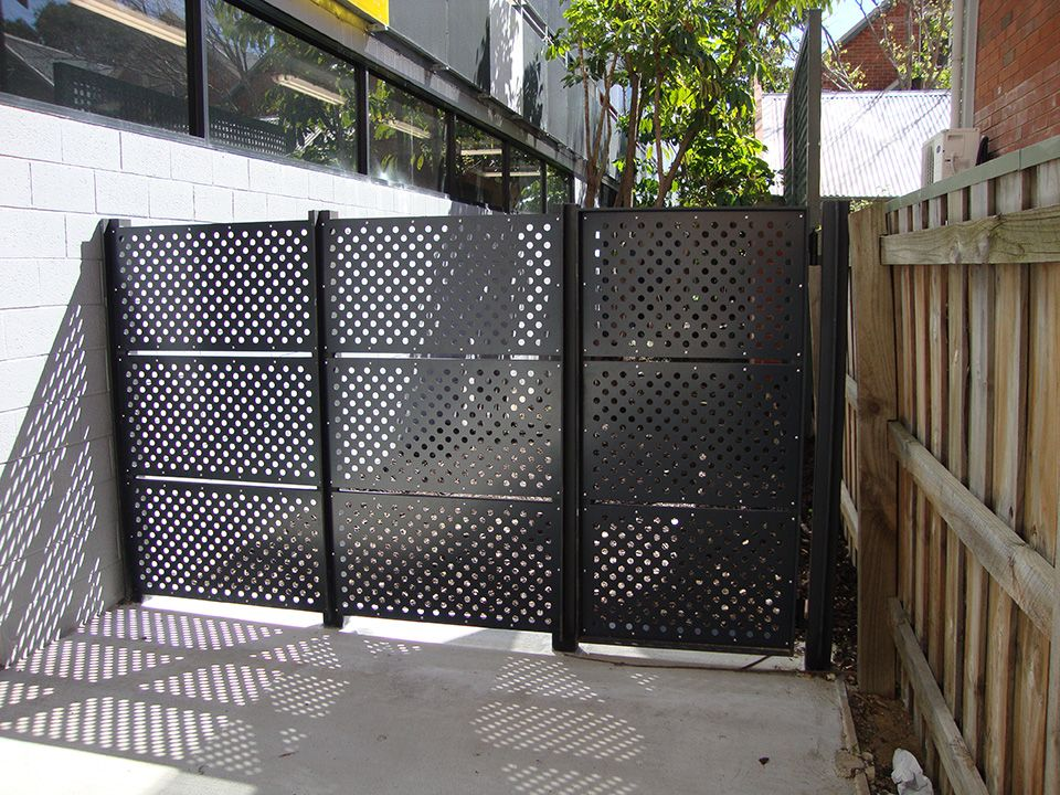 Perforated Metal Gate Open Plan Remodel Fence