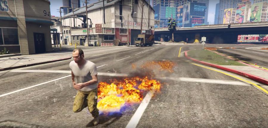 Inferno Man Mod #GTAV set everything on fire | GTA 5 Player Mods