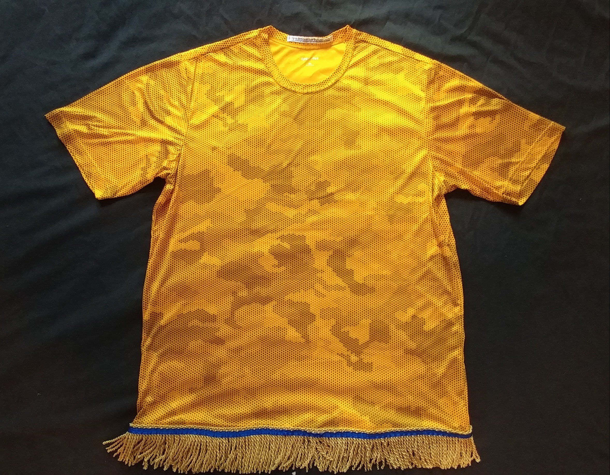 00d250130c10 100% Polyester ** ** Blue Ribbon double-stitched ** ** Premium Gold Fringes  ** ** Wear your fringes like you obey His Laws - EVERYDAY! ** ** NEW!!