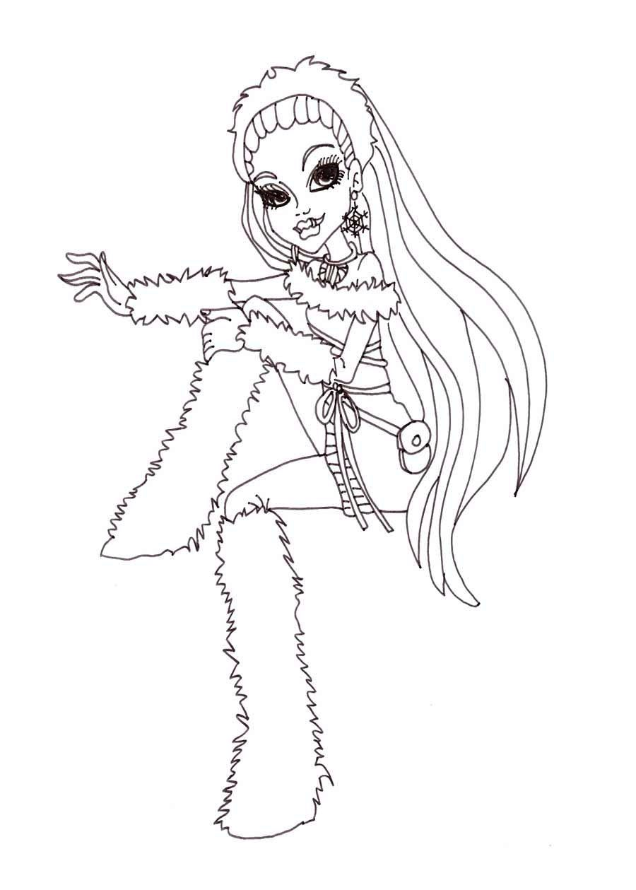 Abbey Bominable Monster High Coloring Page | Monster High | Pinterest