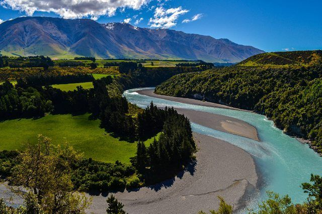 """""""Loved this hike high above the edge of Rakaia Gorge in New Zealand."""""""
