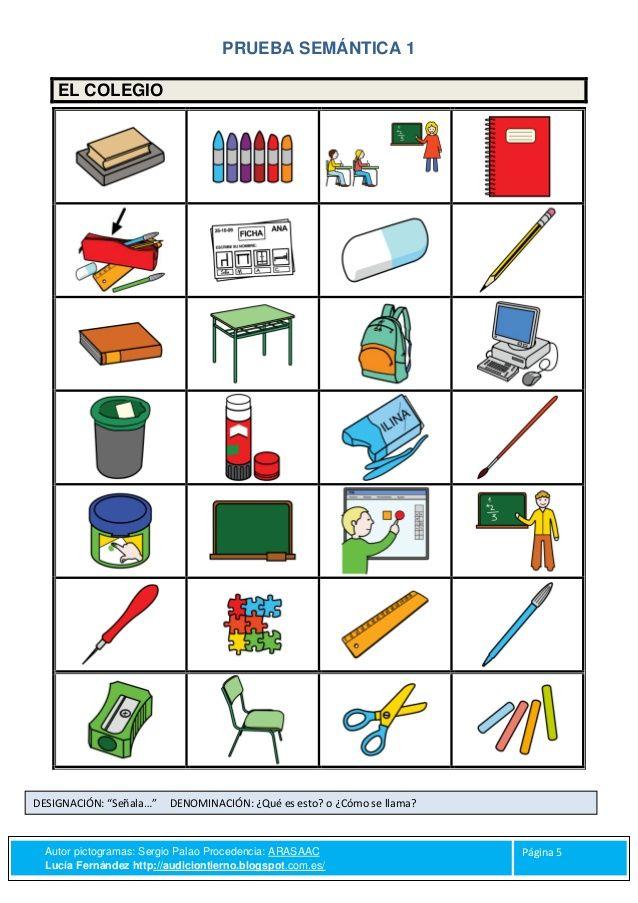Resultado de imagen de vocabulario colegio | Material educativo ...