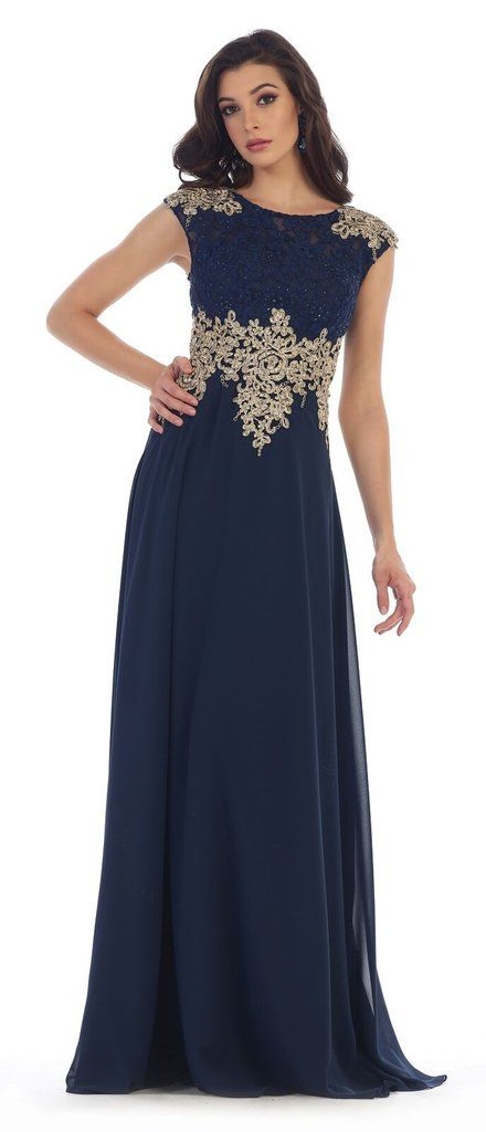 c1e1c83d931 Navy blue modest bridesmaid dresses with sleeves prom dres