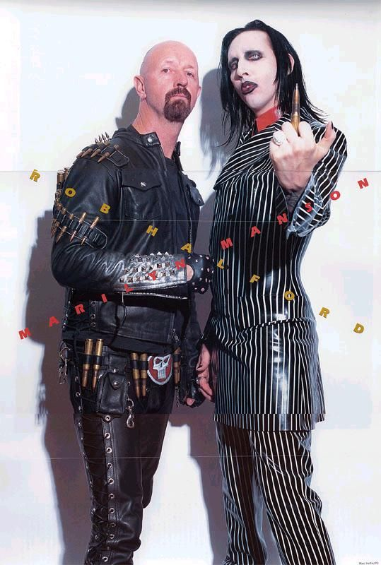 Rob Halford And Marilyn Manson Marilyn Manson Heavy Metal Music Rob Halford