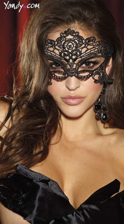 embroidered venice eye mask - Black Eye Mask Halloween