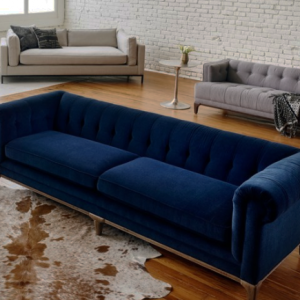 Plush Low Back Chesterfield Sofa Low Back Sofa Contemporary