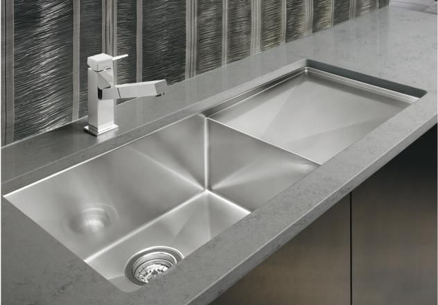 Blanco Precision 16 R10 Super Single Bowl With 16 Drainer Sink Kitchen Fittings Sinks Kitchen Stainless Undermount single bowl kitchen sink