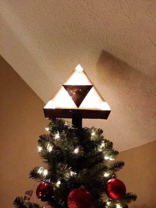 Legend Of Zelda Triforce Christmas Tree Topper Xmas Tree Toppers Diy Tree Topper Geeky Christmas Decorations