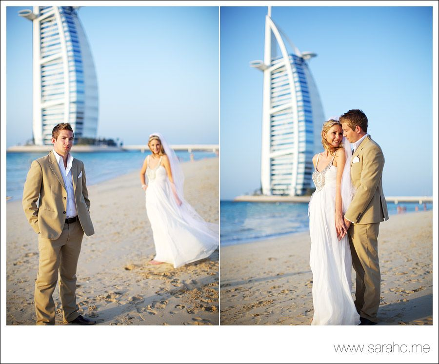 British Couple Marrying At The Mina ASalam Hotel With Burj Al