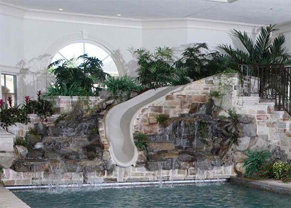 indoor pool house with slide. Indoor Pool Slide Dream-home-paradise-found House With