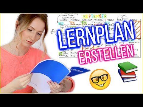 LERNPLAN ERSTELLEN - SO schaffst auch DU die 1! TheBeauty2go - YouTube