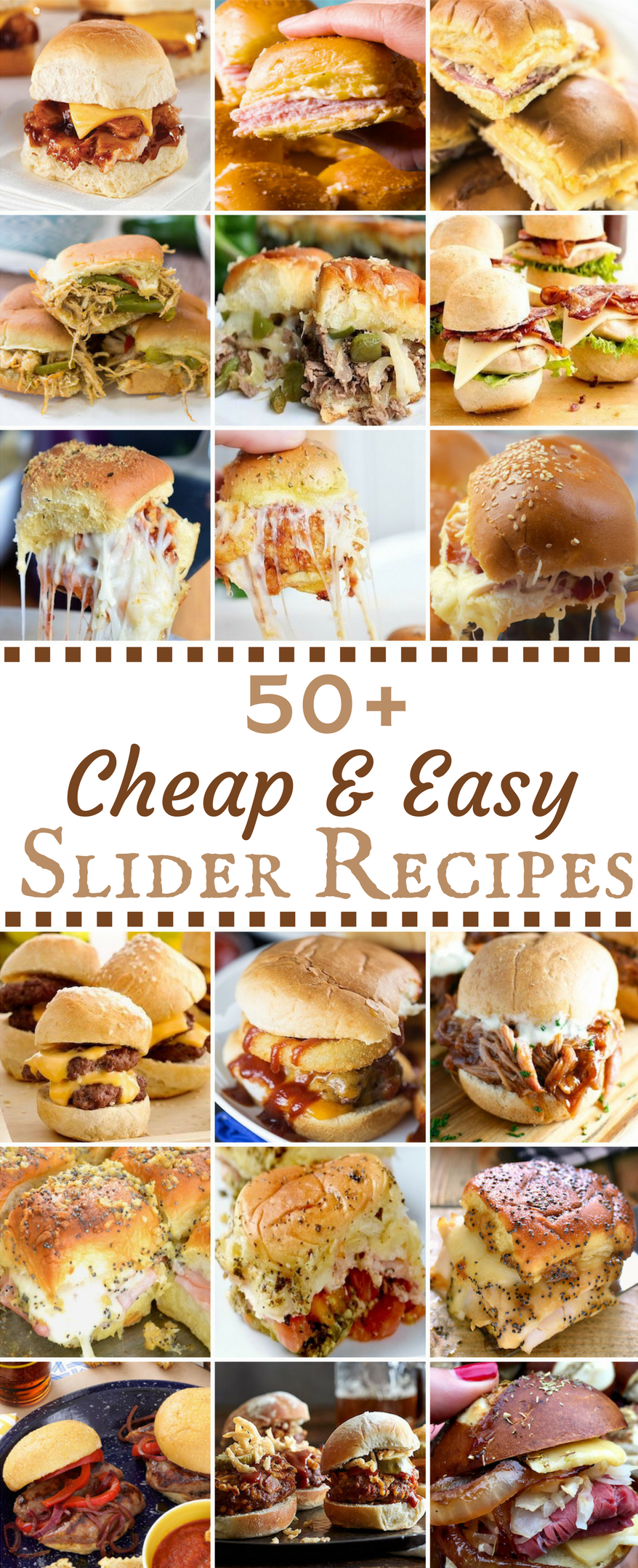 Inexpensive Dinner Party Ideas Part - 48: 50 Cheap U0026 Easy Slider Recipes