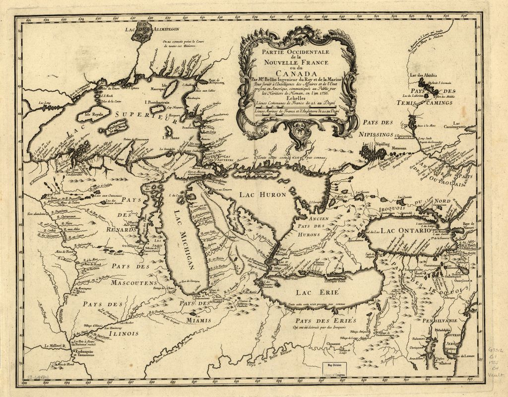 Deeply Zoomable map of the Great Lakes Region / Canada / New France ...