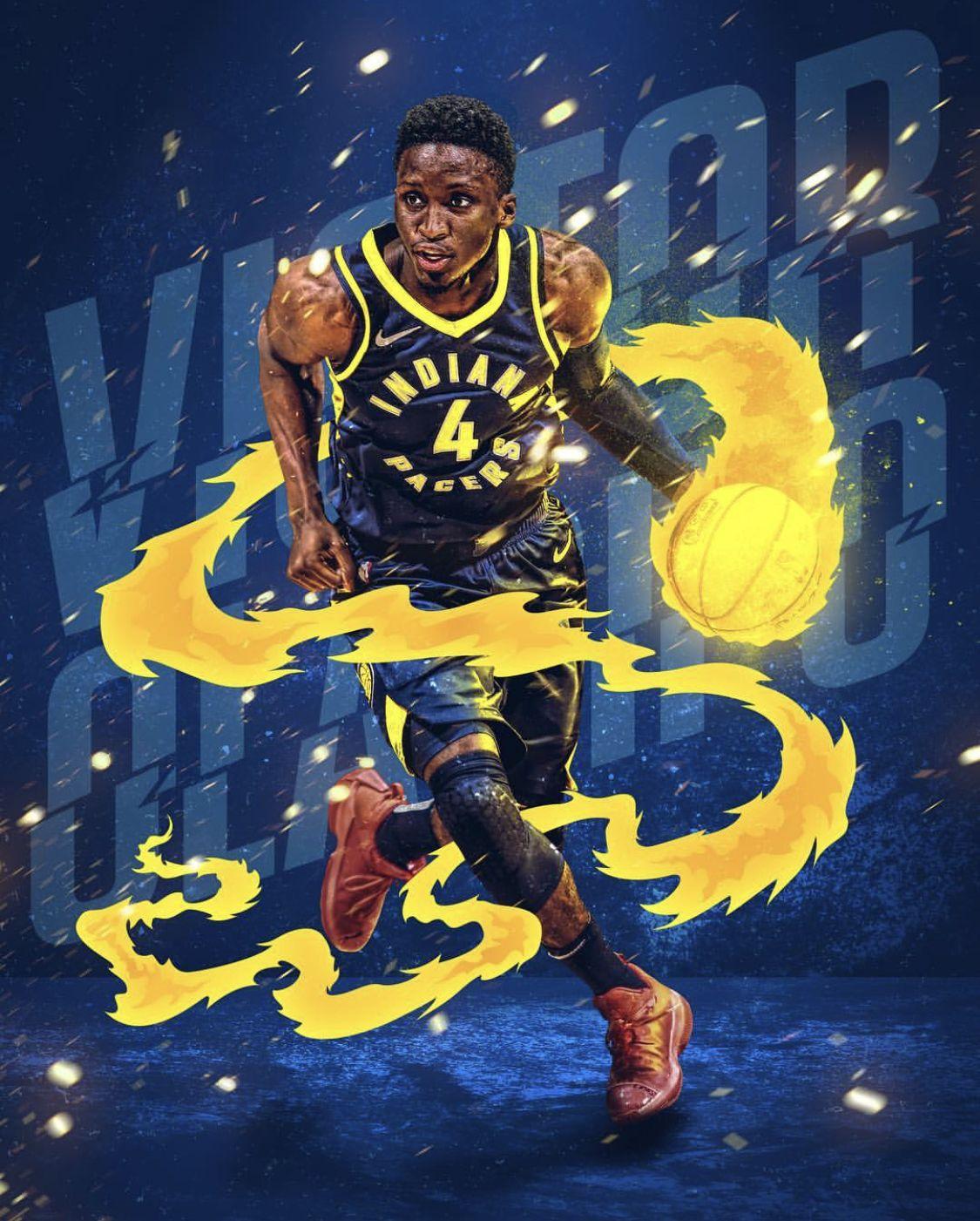 Pin By Qam Yasharahla On Victor Oladipo Nba Wallpapers Basketball Wallpaper Basketball Legends