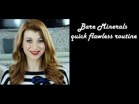 bare minerals quick flawless routine - YouTube