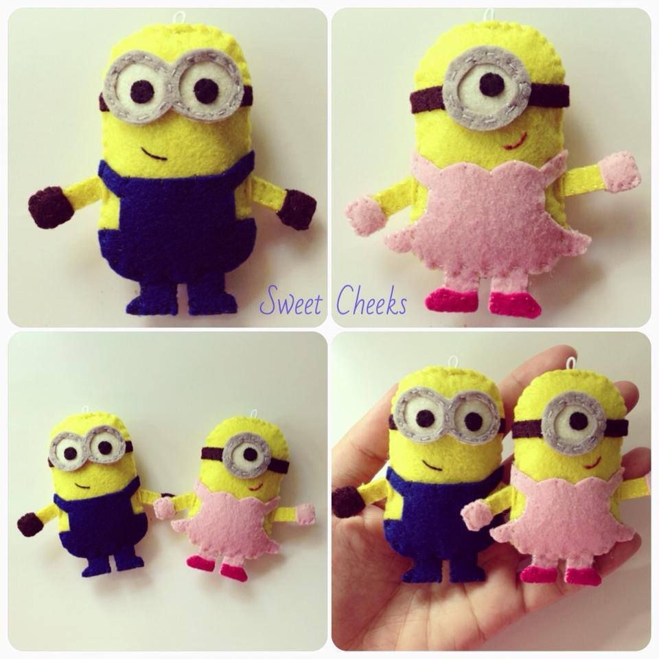 Minion Couple  #feltcreations #feltcreations