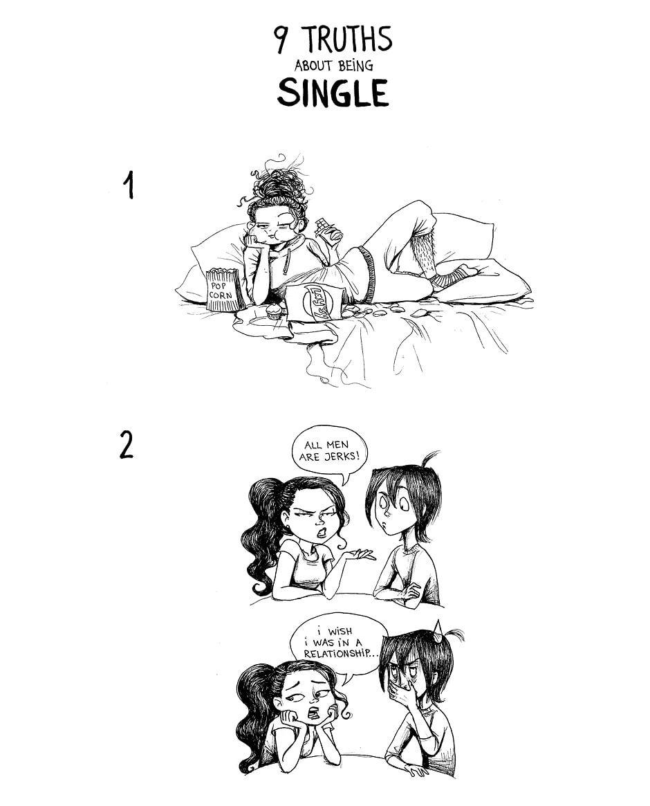 9 Truths: Being Single - Image C. Cassandra Comics